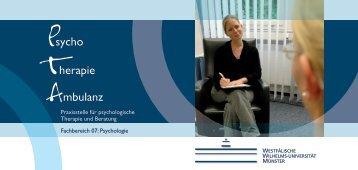 Flyer der PTA - Psychologie - Westfälische Wilhelms-Universität ...