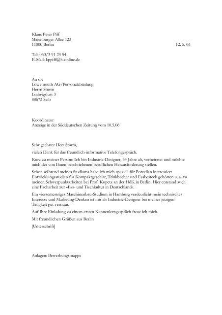 Bewerbung als Koordinator - STARK Verlag