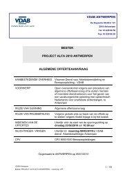 BESTEK PROJECT ALFA 2010 ANTWERPEN ... - Partners - VDAB