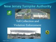 Toll Collection and Violation Enforcement