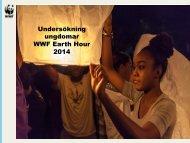 Undersökning ungdomar WWF Earth Hour 2014