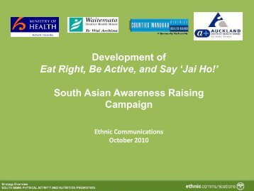 Development of Eat Right, Be Active, and Say 'Jai Ho!' South Asian ...