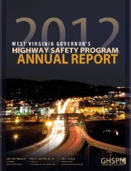 Annual Report for 2012 - West Virginia Department of Transportation ...