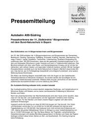 Pressemitteilung Autobahn A99-Südring Pressekonferenz der 14