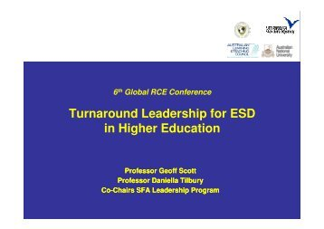 Turnaround Leadership for ESD in Higher Education - Insight ...