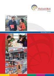 Annual Report 2010 - ProCredit Bank