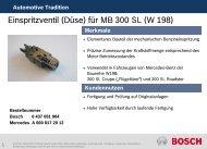 Einspritzventil (Düse) für MB 300 SL (W 198) - Bosch Automotive ...