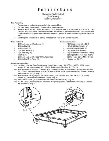 Assembly Instructions 1