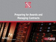 Preparing for Awards and Managing Contracts - The University of ...