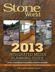 Integrated MedIa PlannIng guIde - Stone World & Contemporary ...