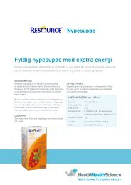 Resource Nypesuppe - nestle nutrition