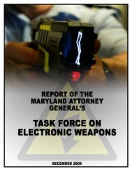 Report of the Maryland Attorney General's Task Force