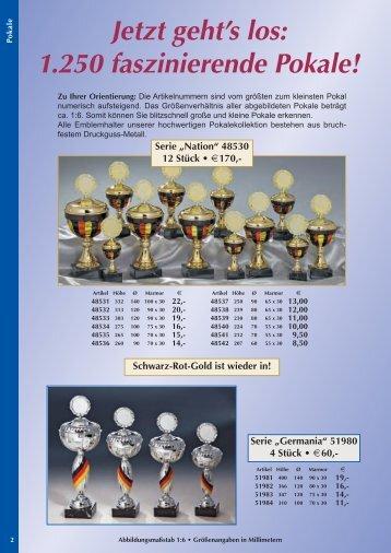 Jetzt geht's los: 1.250 faszinierende Pokale!