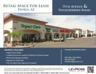 Retail Space For Lease Peoria, AZ