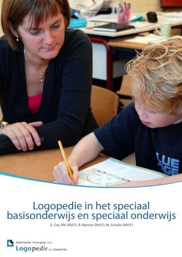 Logopedie in het speciaal basisonderwijs en ... - Logopedie.nl