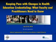 Keeping Pace with Changes in Health Education Credentialing ...