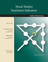 Stock Market Sentiment Indicators