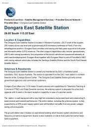 Dongara East Satellite Station _ PrioraNet Sites _ SSC - uppsagd
