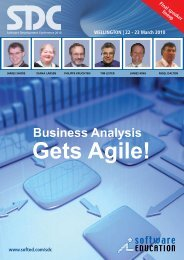 Business Analysis Gets Agile! - Software Education