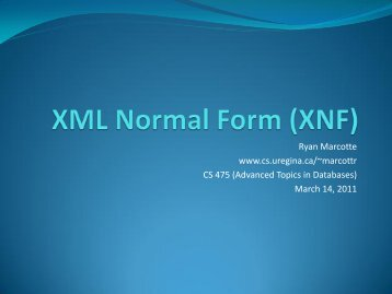 XML Normal Form (XNF)