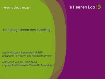 Hoorzorg binnen een instelling - Logopedie.nl