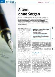 Folge 4: Altern ohne Sorgen (PR 2/2011) - Presse Report