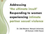 Responding to women experiencing intimate partner sexual violence