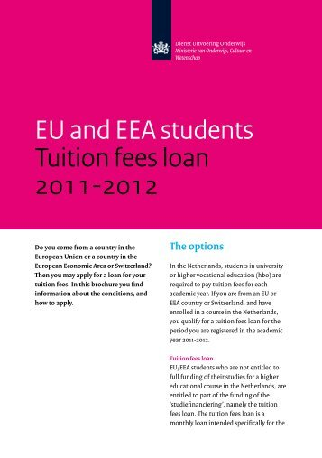 EU and EEA students Tuition fees loan 2011-2012