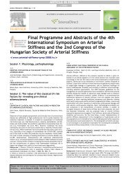 Final Programme and Abstracts of the 4th ... - arteriograf.hu