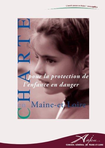Charte pour la protection de l'enfance en danger en Maine et Loire