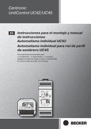 Centronic UnitControl UC42/UC45 - Becker-Automatismos