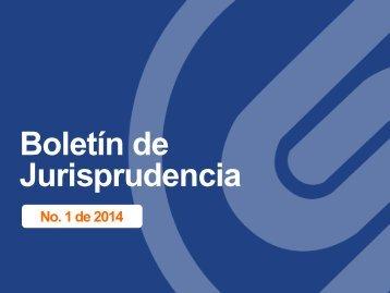 Boletin de jurisprudencia-No-1-2014