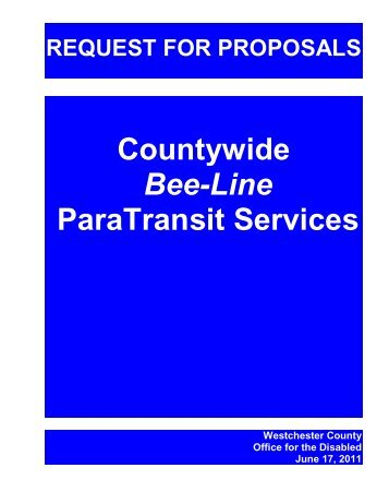 Paratransit Services RFP - Westchester County Government