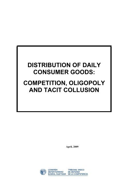 Distribution Of Daily Consumer Goods Competition