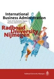 Radboud University Nijmegen Radboud University Nijmegen