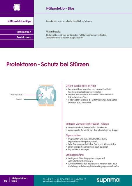 Hüftprotektor - Systeme - Suprima GmbH