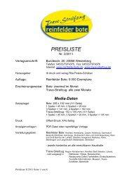 Preisliste II/2011 zum Download