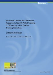 Education Outside the Classroom: Research to Identify What ...