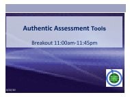 Authentic Assessment Tools - Assessment of Student Learning at ...