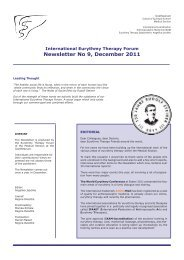Newsletter No 9, December 2011 - International Eurythmy Therapy Forum