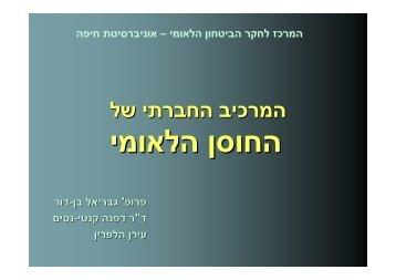 מדדי חיפה – המרכיב החברתי של החוסן הלאומי