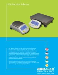 Adam PGL Precision Balances - TekniScience.com