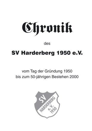 Chronik des SV-Harderberg 1950 eV - SV Harderberg von 1950 eV
