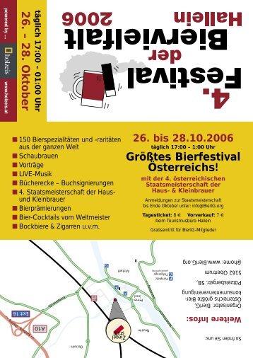 Folder Bierfestival 2006 mit detailliertem Programm - BierIG Österreich