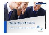 Defizite und Gefahren im Rechenzentrum - Hampel-CoSi IT Service ...