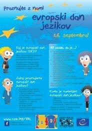 evropski dan jezikov - European Day of Languages