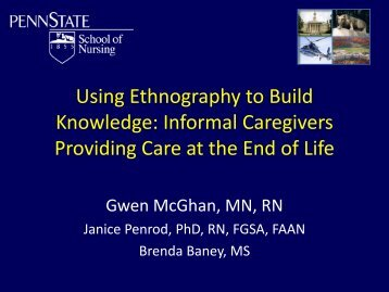 Pathways to the End of Life