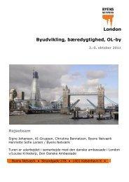 London Byudvikling, bæredygtighed, OL-by - Byens Netværk
