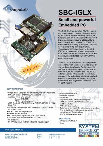 SBC-iGLX - System Technology Sweden AB