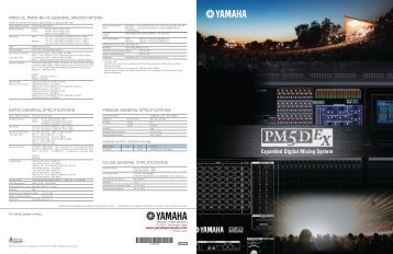 PM5D-EX Guide 4.68MB - Yamaha Commercial Audio